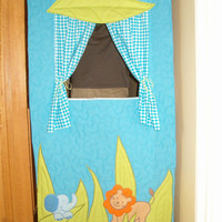 Doorway Puppet Theatre -Quilted Organic Puppet Theatre