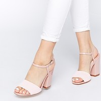 Faith Lavender Pink Pearlised Heeled Sandals