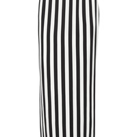 Dolce & Gabbana - Striped crepe maxi skirt