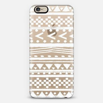 ETHNIC FIFI IN WHITE - CRYSTAL CLEAR PHONE CASE iPhone 6 case by Nika Martinez | Casetify