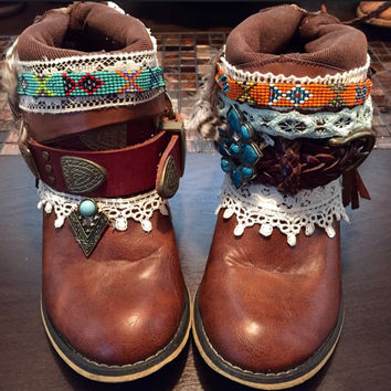 """The """"Tracy"""" - Custom Upcycled Leather Cowboy Boots"""