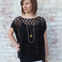 Black Fringe Top