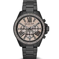 Michael Kors Women's Wren Black Chronograph Watch - Black