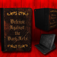 Harry Potter inspired Defense Against The Dark Arts Leather Case For iPad Mini