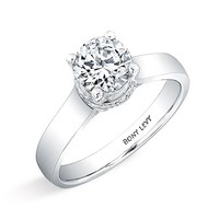 Women's Bony Levy 'Bridal' Diamond Pave Framed Basket Engagement Ring Setting (Nordstrom Exclusive)