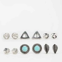 Boho Stud Earring Set- Silver One