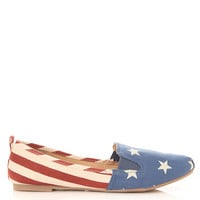 Printed Canvas Loafers