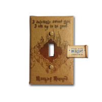 Harry Potter Inspired Marauders Map Switch Plate by mwithm on Etsy