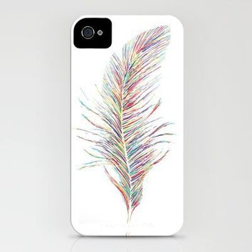 Rainbow Feather  iPhone Case by Jo Woolley   Society6