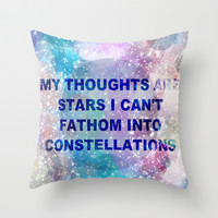 The Fault in Our Stars-My Thoughts Are Stars Throw Pillow