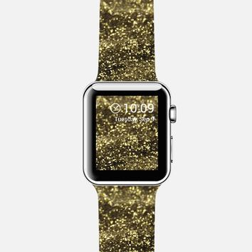 Gold Glitter Apple Watch Band case by VanessaGF | Casetify