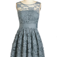 Mid-length Sleeveless A-line When the Night Comes Dress in Smoke