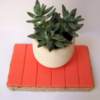 Wood Plant Stand/Indoor Plant Stand/Coral Home Decor/Beach Home Decor/Low Plant Stand/Small Wood Stand/Succulent Stand/Coral Bedroom Decor