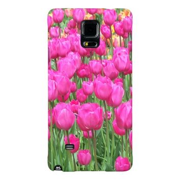 Pink Tulips Floral Galaxy Note 4 Case