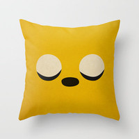 Minimalist Adventure Time Jake Throw Pillow by Lalalaokay | Society6