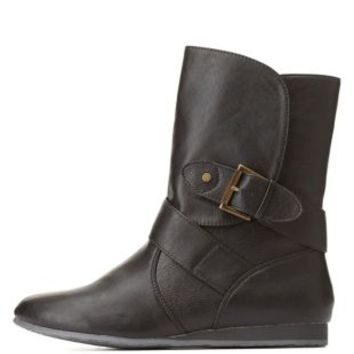 Qupid Belted Mid-Calf Boots by Charlotte Russe