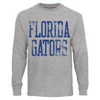 Florida Gators Straight Out Long Sleeve T-Shirt – Heather Gray