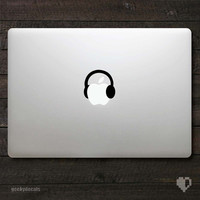 Apple Headphones Macbook Decal / Macbook Sticker
