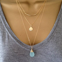 Gold Shell Layering Necklace