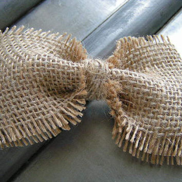 Natural Color Burlap Hair Bow for Teens and Women, french barrette bow clip, kids bow hair clip,burlap bow