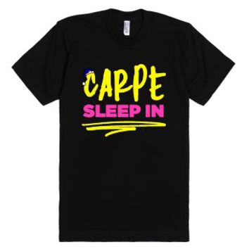 Carpe In Sleep-Unisex Black T-Shirt