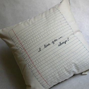 Love Note Pillow by designlab443 on Etsy