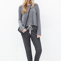 FOREVER 21 Heathered French Terry Sweatpants