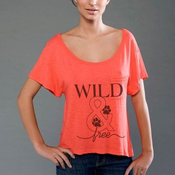 Wild & Free Supima Modal Eco-friendly Scoop Neck Cropped Slub Tee