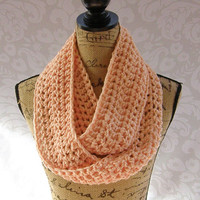 Ready To Ship Infinity Scarf Peach Women's Accessory Infinity Pastel Scarf