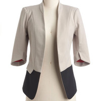 ModCloth Urban Mid-length 3 In Living Monochrome Blazer