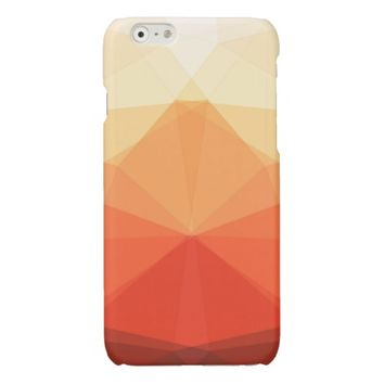 Symmetrical Autumn Triangles Glossy iPhone 6 Case