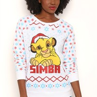 Long Sleeve French Terry Fair Isle Print Top with Simba Screen