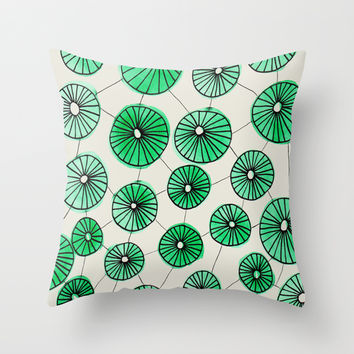 Pinwheels Throw Pillow by Sandra Arduini
