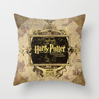 Harry Potter Cahmber Of Secrets Throw Pillow by neutrone