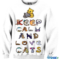 Keep Calm and Love Cats CREWNECK