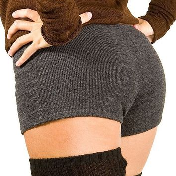 Charcoal Small Sexy Low Rise Yoga & Dance #Shorts Stretch Knit by KD dance NYC High Quality #Zumba #Yoga #Pilates #Gym Shorts #MadeInUSA