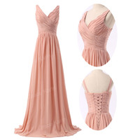 LADY Formal Chiffon Long Ball Gown Party Prom Bridesmaid Evening Dress Size 2~16