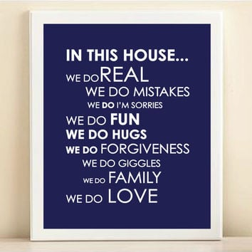 "Navy ""We Do Love"" print poster"