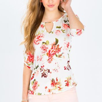 Berry Floral Blouse