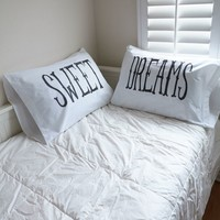 The Rise and Fall Sweet Dreams Pillow Case Set - Womens Scarves - White - One