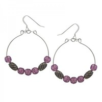 Alex and Ani Mulberry Watercolor Earrings