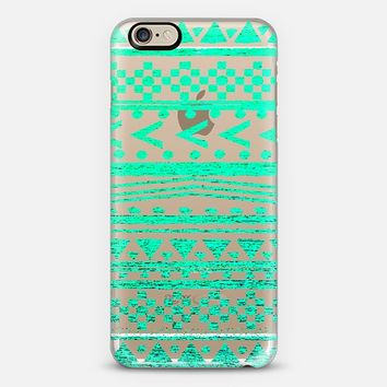 ETHNIC FIFI IN TEAL - CRYSTAL CLEAR PHONE CASE iPhone 6 case by Nika Martinez | Casetify