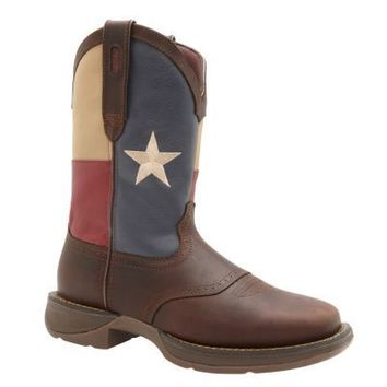 Durango Rebel Men's 11 in. Pull-On Texas Flag Boot
