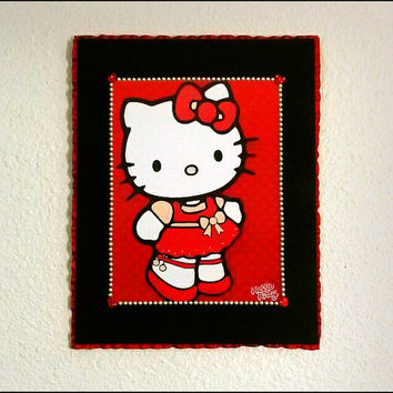 Girls - Hello Kitty - Embellished Print on Canvas