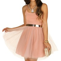 Randy-pink Tulle Party Dress