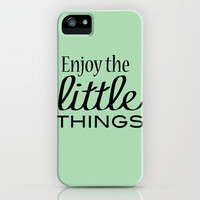 Enjoy the Little Things - Mint Green iPhone Case by Framed Frosting | Society6