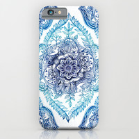 Indian Ink - in Blues iPhone & iPod Case by Micklyn