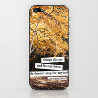 perks of being a wallflower - life doesn't stop for anybody iPhone & iPod Skin by lissalaine