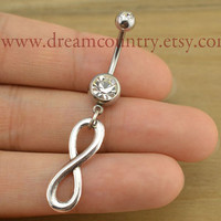 Infinity Belly Button Rings, infinity belly button jewelry,Navel Jewelry