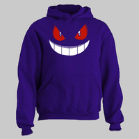 Pokemon Gengar Hoodie purple funny adult and youth sizes!